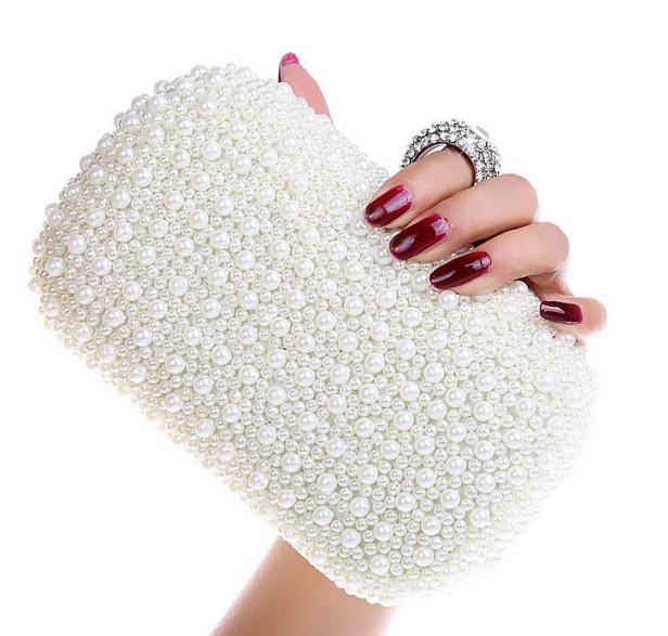 Free-Shipping-Best-Gorgeous-Bridal-Bag-Women-s-Beaded-Bag-Imitation-Pearls-Diamond-Finger-Ring-Beads