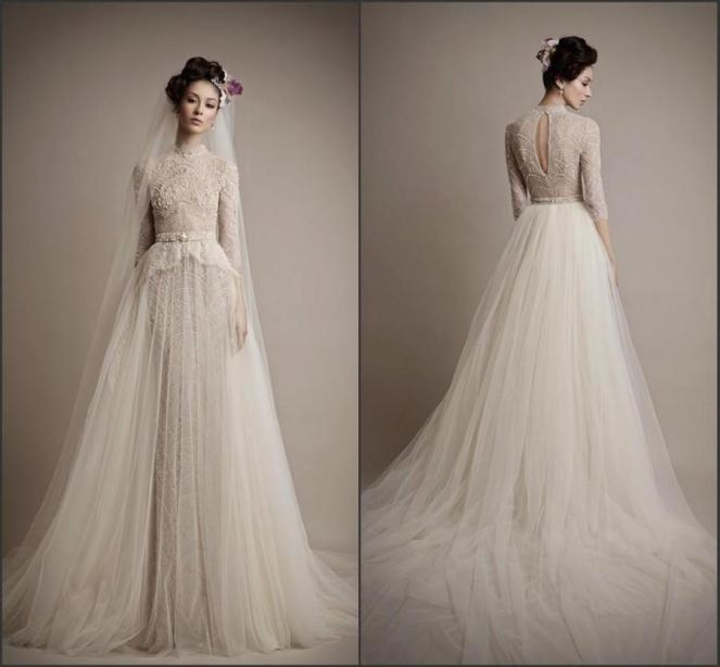 cheap-champagne-mermaid-wedding-dresses-long-sleeve-lace-color-beads-tulle-sweep-train-2015-spring-bridal-gowns-vestido-de-novia-illusion-online-with-14675piece-on-hjklp88s-store-dhgatecom