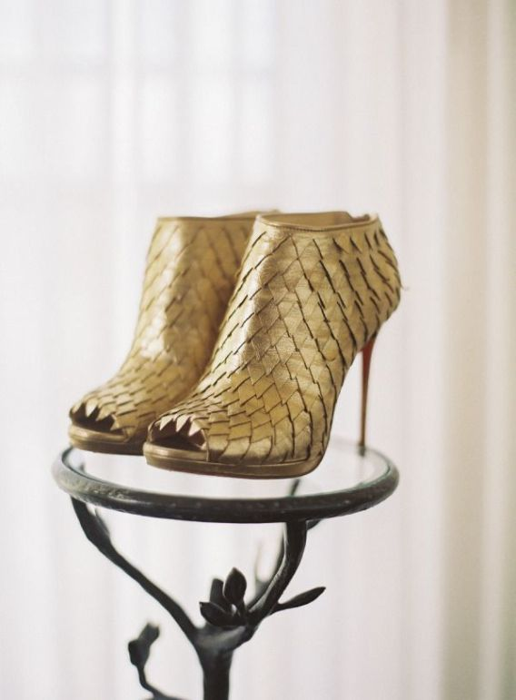 Gold-Christian-Louboutin-booties