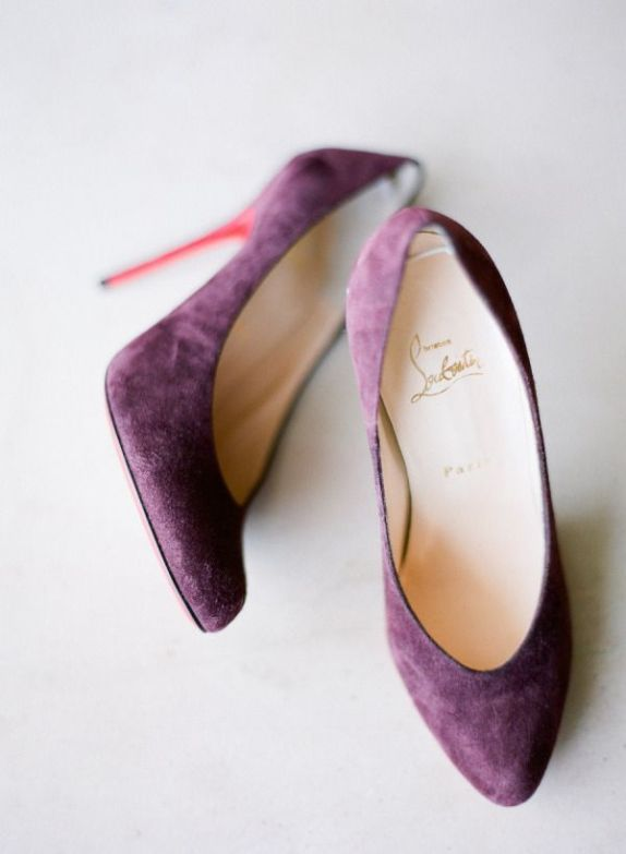 Purple-suede-wedding-shoes