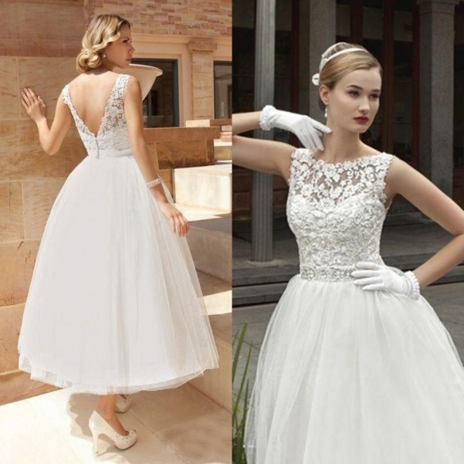 2016-vintage-tea-length-wedding-dress-a-line-lace-tulle-short-bridal-gowns-illusion-boat-neck